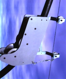 Aerial Cable Guides keep cables straight during feeding.