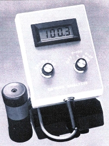 Portable Analyzer measures oxygen in air and water.