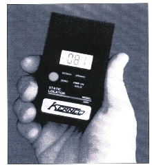 Static Meter operates from 9V battery.
