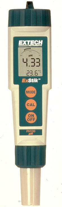 ph Meter has flat surface electrode and smart chip.
