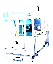 Horizontal Machining Center produces near-dry chips.