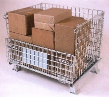 Wire Containers handle loads up to 2,000 lbs..