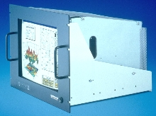 Rack-mount CRT Displays are EMI and RFI shielded.