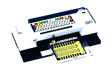 Portable Plotter prints on electrical components.
