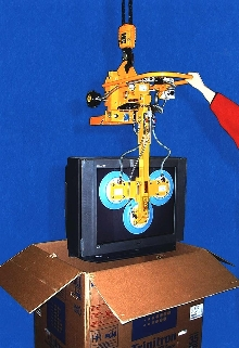 Vacuum Lifter can pick up TVs weighing 1,000 lb.