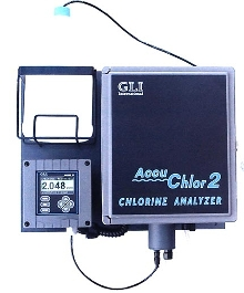 Chlorine Monitor accurately measures free or total chlorine.