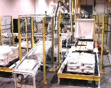Bagging Robot handles three production lines.