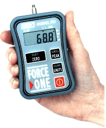 Force Gage uses interchangeable modules to vary capacity.