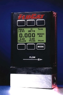 Mass Flow Meter measures 13 different gases.