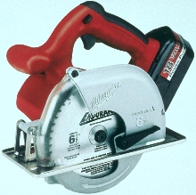 Cordless Circular Saw cuts through most metals.