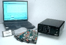 Data Acquisition System operates on 12 Vdc for portability.