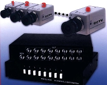 Video Switch suits CCTV security monitoring.