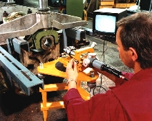 Video Alignment System simplifies engine re-machining.