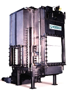Automatic Tower Press provides 2-sided filtration.