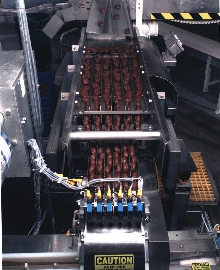 Packaging Machine wraps delicate food products.