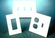 Thermoplastic Wallplates cover installation gaps.