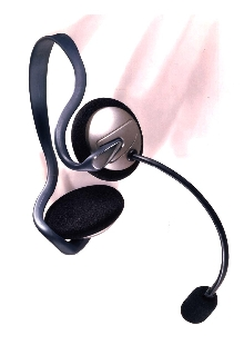 Headset fits most radios.