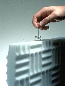 Baffles offer optional hanging system.