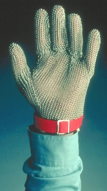 Mesh Gloves provide cut and puncture protection.