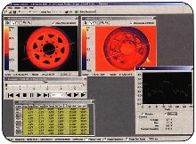 Inspection Software views thermal profiles of molds.