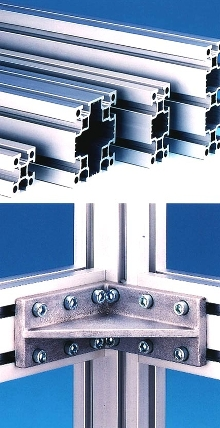 Framing System uses alloy 6005T6 for higher strength.