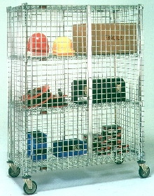 Storage Equipment has open-wire construction.
