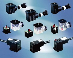 DIN Connectors are used with solenoid valves.