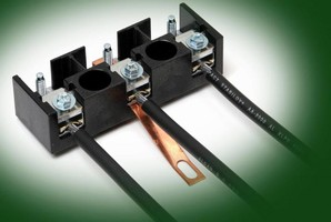 High Current Terminal Blocks accept aluminum and copper wire.