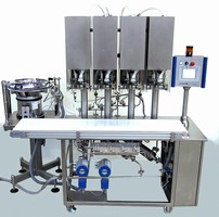 Bag Filling & Closing Machine produces aseptic IV bags.