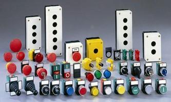 Push Buttons, Pilot Lights, E-Stops