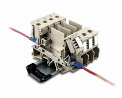 Terminal Blocks suit standard wire termination applications.