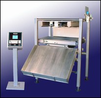 Checkweigher includes rejection capabilities.
