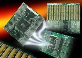 Compact PCI Bridge Module plugs into rear of backplane.