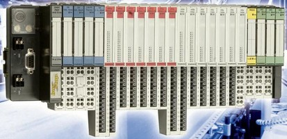 I/O Modules reduce required mounting width.