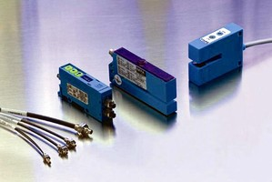 Fiber Optic Sensors feature programmable, NPN/PNP outputs.