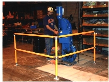 Safety Railings can be assembled quickly.
