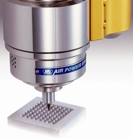 Air Driven Spindle suits micro machining applications.