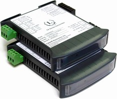Transmitter converts serial data to analog output.