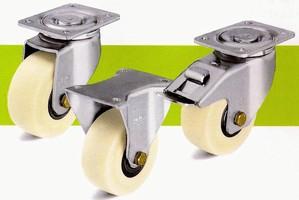 Metric Steel Casters feature heavy duty brackets.