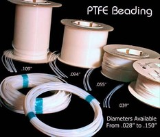 PTFE Beadings have service range of -300 to 500°F.