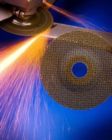Abrasive Wheel removes light welds, burrs, rust, and paint.