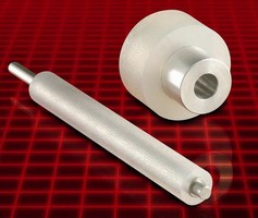 Label Guide Rollers are available custom molded.