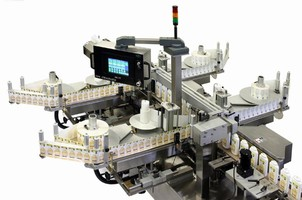 Labeling Machinery handles up to 300 containers/min.
