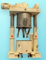 Double Planetary Mixer has 500 gal capacity.
