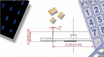 SMT LEDs have 0.5 mm profile.
