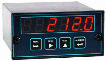 Temperature Panel Meter reads 7 thermocouple and 2 RTD types.