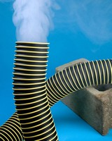 Thermoplastic Hose is suited for fume and dust removal.