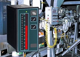 Bargraph Process Meter provides relays for alarm or control.
