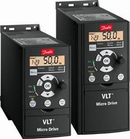 Variable Frequency Drive controls AC motors up to 3 hp.