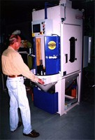 Rotary Blast Machinery is suited for tall components.